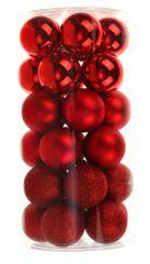 Seizis Set plastových gulí 30ks, mix červené