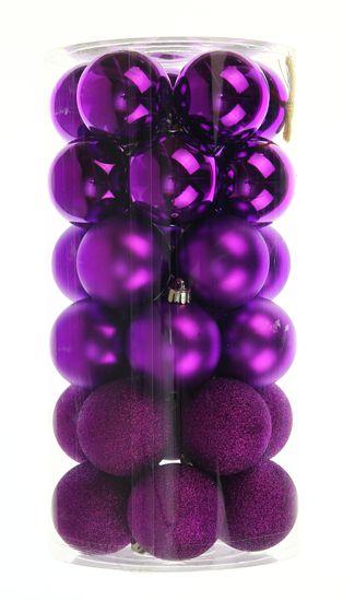 Seizis Set plastových koulí 30ks, mix fialové