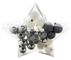 Seizis et 27 ks ozdôb v balení tvar hviezda