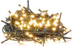 Retlux Vianočná reťaz 50 LED časovač, teplá biela