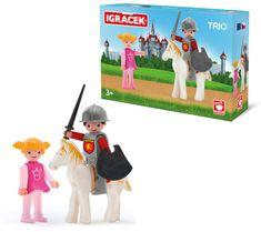 Igráček TRIO - Princezná, rytier a biely kôň
