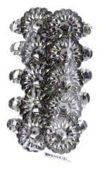Seizis Svícínek kovový na svíčku se skřipcem stříbrný, 10ks