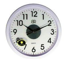 BR zidni sat, promjer 30 cm, sa senzorom, bijeli