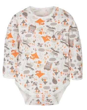 G-mini detské body Sobík biela/oranžová 56