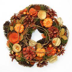 Seizis Veniec jesenný so šiškami a tekvicami, 25cm