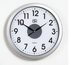 BR zidni sat, promjer 30 cm, sa senzorom, srebrni