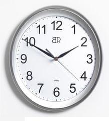 BR stenska ura, ovalna, premer 30 cm, srebrna