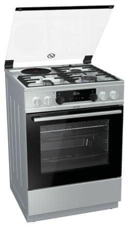 Gorenje kombinirani štednjak K6351XC