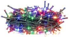 Retlux Vianočná reťaz 200LED časovač multicolor