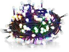 Retlux Vianočná reťaz 100LED guľôčky multicolor