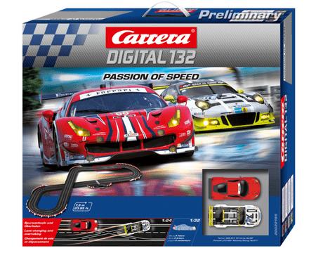 CARRERA Versenypálya D132 30195 Passion of Speed