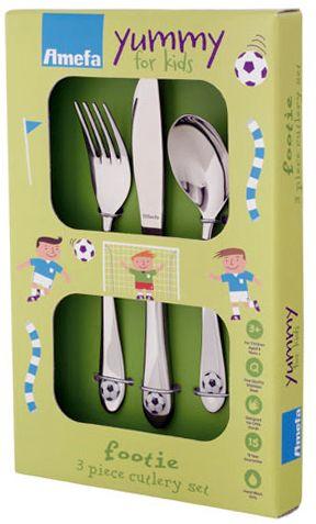 Amefa Dětský příbor Fotbal, set 3 ks