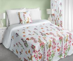 b068eb2b26d2 My Best Home Přehoz na postel Romace květiny