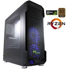 PCplus namizni računalnik AMD Gamer Ryzen5-1400/8GB/1TB+240SSD/GTX1050Ti/FreeDos