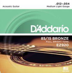 Daddario EZ920 Kovové struny na akustickú gitaru
