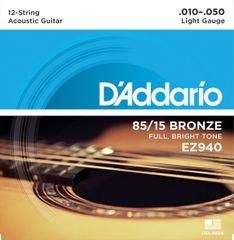 Daddario EZ940 Struny na dvanásťstrunovú gitaru