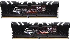 G.Skill pomnilnik DDR4 Flare X 16GB Kit (2x 8GB), PC4-25600, 3200MHz, CL14, 1.35V, XMP 2.0