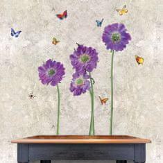 Walplus Fialové kvety WS4013
