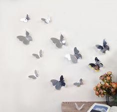 Walplus Zrkadlové motýle 3D WS1013