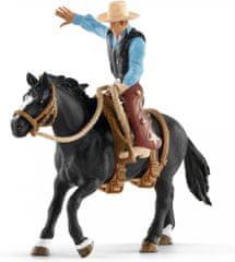 Schleich Osedlaný kôň s kovbojom