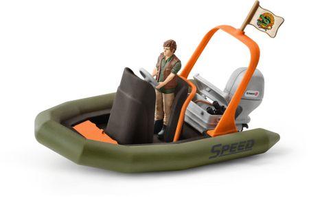 Schleich ponton ze strażnikiem