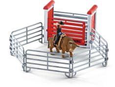 Schleich Kovboj na býku v ohradě