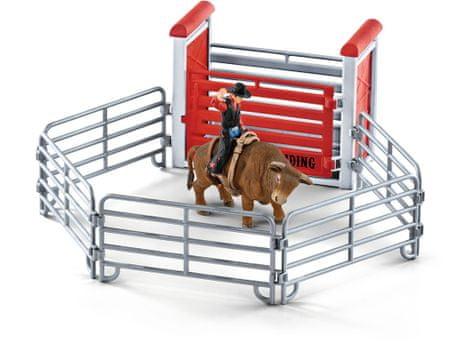 Schleich Cowboy bikán a karámon belül 41419