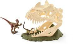 Schleich czaszka-pułapka z Welociraptorem