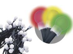 EMOS Reťaz s časovačom 480 LED gule 48 m multicolor - rozbalené