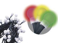 Emos 300 LED řetěz – kuličky, 30 m, multicolor, časovač