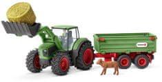 Schleich Traktor pótkocsival 42379