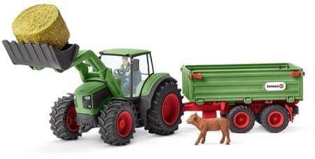 Schleich Traktor s vlekem