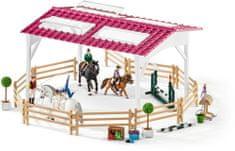 Schleich Lovasiskola lovasokkal és lovakkal 42389