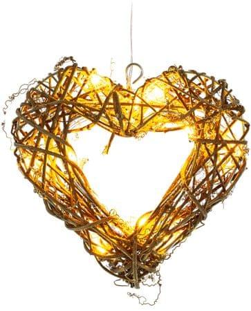 Retlux Srdce ratan 10LED