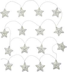 Retlux Prírodná hviezda 16 LED teplá biela