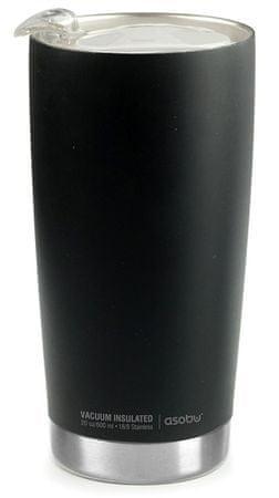 Asobu Luxus The Gladiator termo pohár, Fekete/Ezüst, 600 ml