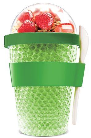 Asobu Multifunkčný chladiaci desiatový téglik CY2GO CY2GO zelená
