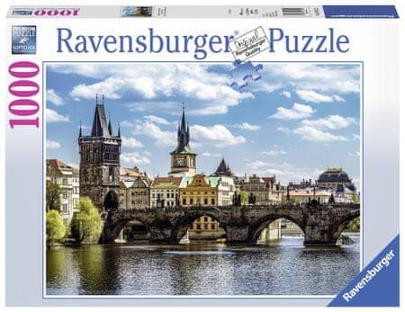 Ravensburger sestavljanka Pogled na Karlov most, 1000 delov