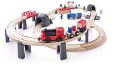 Woody Modern elektromos vasúti szett, 80 db
