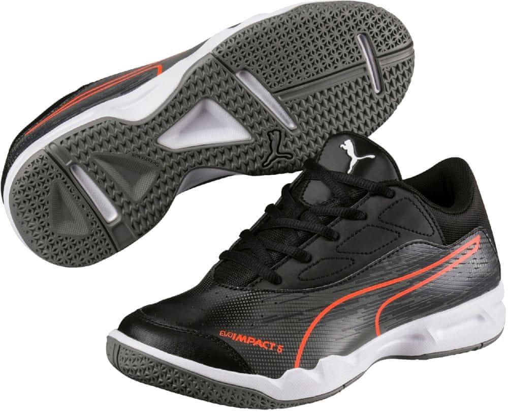 Puma buty halowe evoIMPACT 5.3 Jr Black Asphalt Shock 32