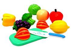 Mac Toys Set potravin na suchý zip - modrá
