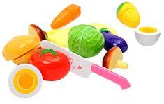 Mac Toys zestaw warzyw i owoców do krojenia, różowy