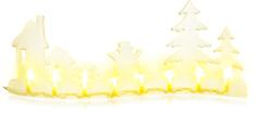Retlux Vidék fával 8 LED meleg fehér