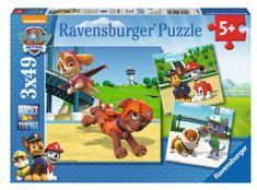 Ravensburger puzzle 092390 Paw Patrol: Zespół psów 3x49 elementów