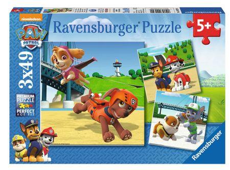 Ravensburger Puzzle 092390 Mancsőrjárat: Kutyacsapat 3x49 részes
