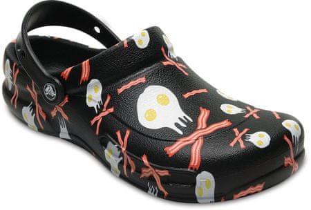 Crocs natikači Bistro Peppers Clog Black/White, 38,5