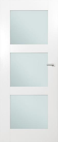VASCO DOORS Interiérové dveře ARVIK kombinované, model 4, Bílá, A