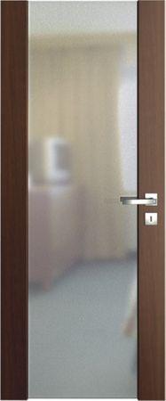 VASCO DOORS Interiérové dveře VENTURA SATINATO matné sklo, Ořech, A