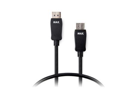 MAX kabel DisplayPort - DisplayPort 1.2 1,5m, černá