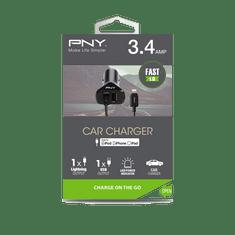 PNY Autonabíjačka Lightning (P-DC-LN-K01-04-RB), Black